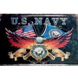 U.S. NAVY -  Metal Sign.  20X30.cm. fém tábla kép