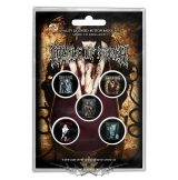 Cradle Of Filth - Button Badge Pack.  Albums.   jelvényszett
