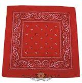 Kendő - Bandana. klasszik design, piros-fehér.  vászon kendő