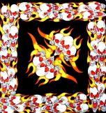 FLAMING SKULL   vászon kendő
