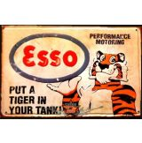 GARAGE -  ESSO - PUT A TIGER IN YOUR TANK !.  20X30.cm. fém tábla kép