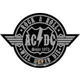 AC/DC - Rock n Roll * Never die.  felvarró
