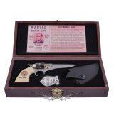 Colt Knife Jesse James + Marshall jelvény. díszdobozban. .    hobby kés, bicska, tőr, dísztárgy