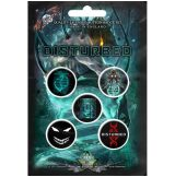 Disturbed - Badge Button Set.   jelvényszett