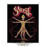 Ghost - Standard Patch - The Vitruvian Ghost.   import zenekaros felvarró