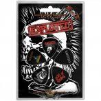 The Exploited - Plectrum Pack.  Skull.  gitárpengető szett