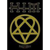 HIM - Ville Valo. gothic rock band. Hertagram. zenekaros zászló