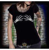 SKELETON HAND  női póló