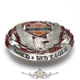 BIKER - RED EAGLE. szines  övcsat