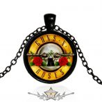 GUNS N ROSES - ART PICTURE GLASS DOME PENDANT.   nyaklánc, medál