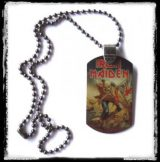 IRON MAIDEN - TROOPER.  medál, dog tag