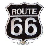 ROUTE US 66 - Black logo FV61A.   felvarró