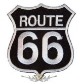 ROUTE US 66 - Black logo  felvarró