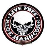 LIVE FREE - LIVE HARDCORE  hátfelvarró