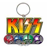 KISS - Keychain - Logo & Icons  import fém kulcstartó