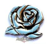 Lady riaider rose,   nagyméretű fém motoros jelvény