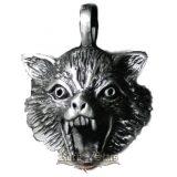 WOLF - Üvöltő farkas nyaklánc. AP34.      nyaklánc, medál