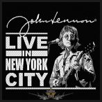 The Beatles - John Lennon 'Live in New York City' Woven Patch.   import zenekaros felvarró