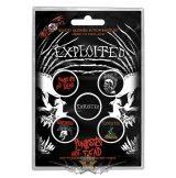 The Exploited - Button Badge Pack.  Punks Not Dead.   jelvényszett