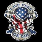 Live free - Or die.   SFL. felvarró