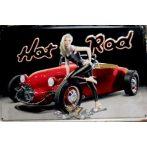 HOT ROD -  Metal Sign.  20X30.cm. fém tábla kép