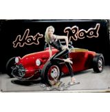 HOT ROD -  Metal Sign.  20X30.cm. fém tábla kép