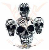 3 fej gyertyatartó koponyák - 3 heads Candleholder Skulls Death Set 3626..  gyertya tartó