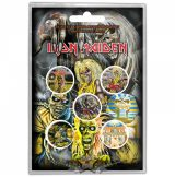 IRON MAIDEN - EARLY ALBUMS Button Badge Pack.  jelvényszett