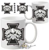 Iron cross - 3 skulls.   bögre