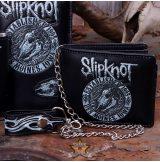 Slipknot - Flaming Goat Logo Wallet with Chain   import pénztárca
