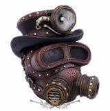 Mechanical Oxygenation - Steampunk. 18cm.   koponya figura,