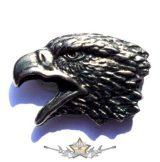 EAGLE HEAD. KGJ.  nagyméretű fém motoros jelvény