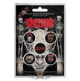 Kreator - Button Badge Pack.  Skull & Skeletons.   jelvényszett