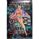 HOT ROD - AMERICAN -  Metal Sign.  20X30.cm. fém tábla kép