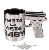 3D. Terminator - Hasta La Vista Baby pisztoly bögre   kerámia  bögre