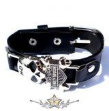 Motoros * Harley skull logo.  karkötő, csuklópánt