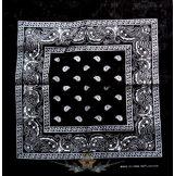 Kendő - Klasszik design, fekete-fehér. JJK.  vékony nyári vászon kendő