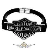 Motoros * Harley Davidson - Classic logo.  karkötő, csuklópánt