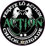 ACTION - Chaos brigád.  zöld logo. hímzett felvarró