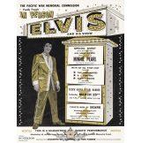 Elvis -  Tin Metal Sign Elvis Presley 50's. 30x40.cm.  kerek fém tábla kép