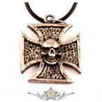 IRON CROSS - skull. JVP.  nyaklánc, medál