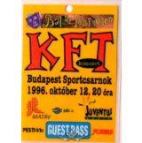KFT. BÁL AZ INTERNETEN. BP. SPORTCSARNOK. 1996.X.12. GUEST PASS.   Stage pass.