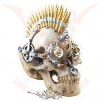 "Steampunk * Skull ""Marine"" with bullet iro.  koponya figura"