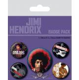 JIMI HENDRIX - (EXPERIENCE) BADGE PACK.  jelvényszett