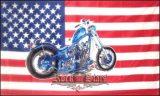 Motorcycle American Flag,  Biker Chopper.  zászló