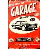 GARAGE - FULL SERVICE.  20X30.cm. fém tábla kép