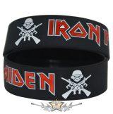 IRON MAIDEN -  Rubber Wristband.   szilikon karkötő