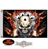 Hot Leathers Dead Man Skull Flag.  zászló