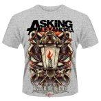 ASKING ALEXANDRIA - Candle GREY.  zenekaros  póló.