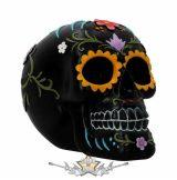 Floral Festivities Skull Ornament - 15.2cm.  koponya figura